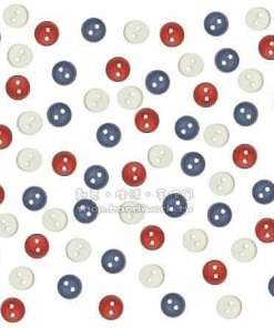 Jesse James Beads 美式造型鈕釦 Tiny Patriotic Button 1664