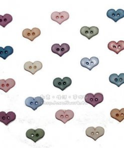 Jesse James Beads 美式造型鈕釦 Mini Folk Art Hearts 1789