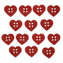 Jesse James Beads 美式造型鈕釦 Sew Cute Red Hearts 6934
