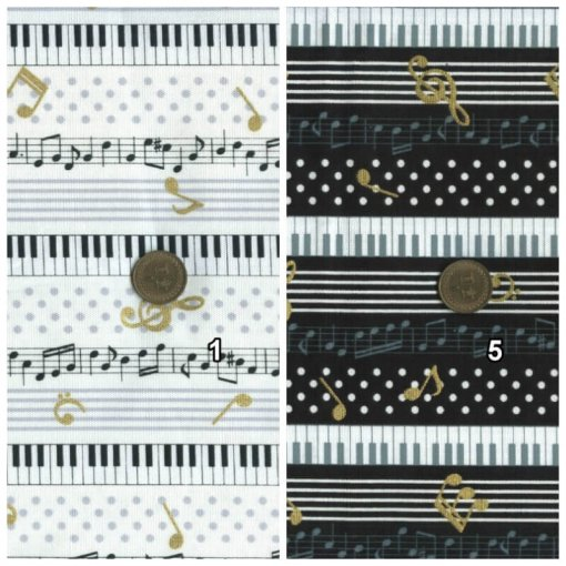Cosmo Textile musical note 5829